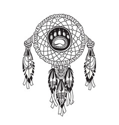 indian dream catcher with ethnic ornaments and vector image vector image