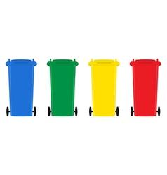 Set of trash bins flat design vector image