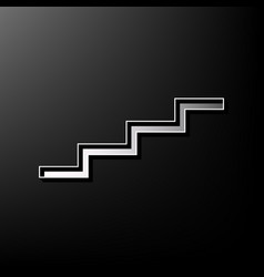 stair up sign gray 3d printed icon on vector image vector image