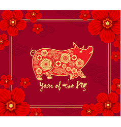 2019 chinese new year calendar year of the pig vector
