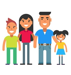 A family of four vector image
