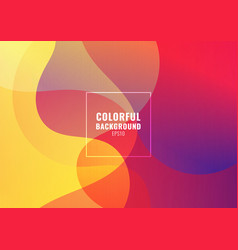 abstract fluid colorful gradient shape background vector image