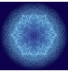 Abstract glowing mandala vector image