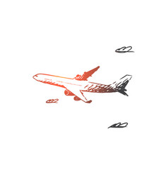 airplane sky flight transport trip concept vector image