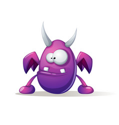 awfully nice monster cute funny vector image