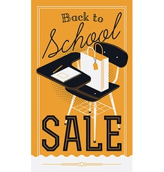 Back to School Sale Banner vector image