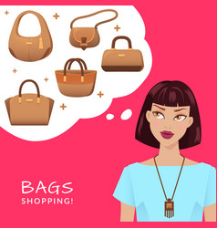 bags and shopping vector image