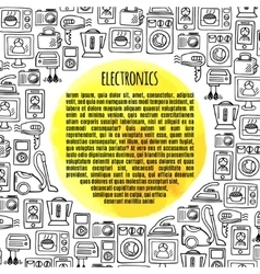 Banner electronics vector image
