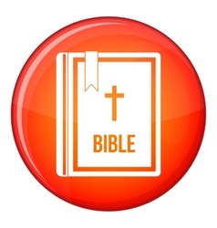 Bible icon flat style vector