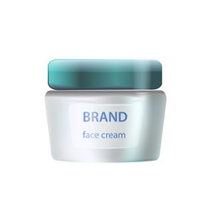 Brand face cream icon on vector