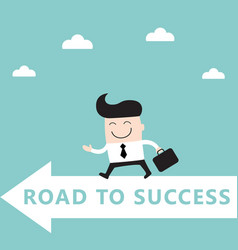 businessman goes to the goal success achievement vector image