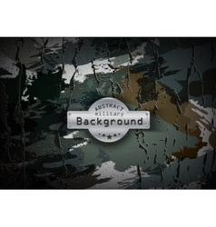Camouflage military pattern with cracks background vector