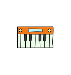 cartoon electronic synthesizer icon vector image
