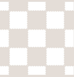 Checkered geometric seamless pattern with jagged vector