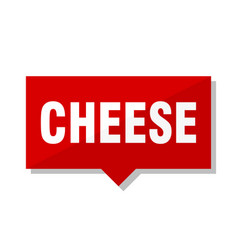 Cheese red tag vector