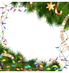 Christmas lights isolated on white EPS 10 vector image