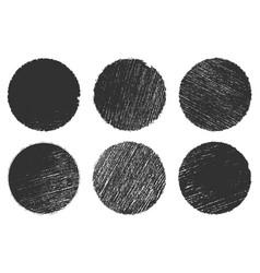 circular brushed stamp vector image