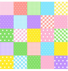 colorful seamless patterns for baby style vector image