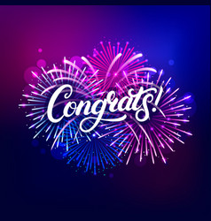 Congrats hand written lettering text vector