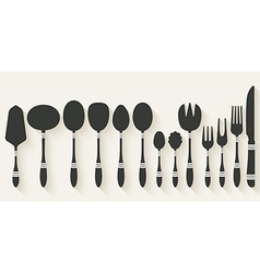 cutlery tableware set vector image