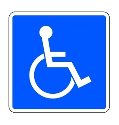 Disabled blue sign vector