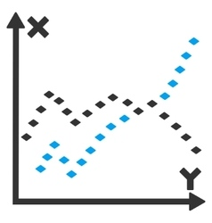 Dotted Functions Plot Toolbar Icon vector