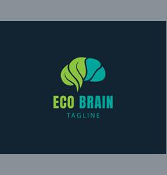 Eco brain logo creative brain logo brain logo vector