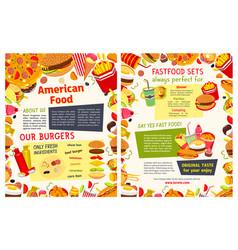 Fast food restaurant takeaway menu template vector