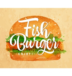 Fish burger kraft vector