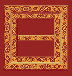 Frames in antique byzantine style artistic vector