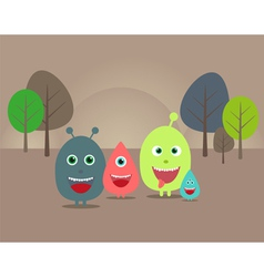 funny aliens and monsters vector image