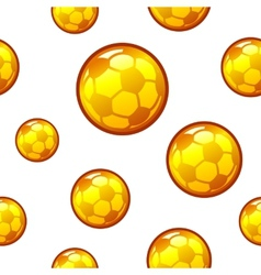 Gold football soccer seamless background vector