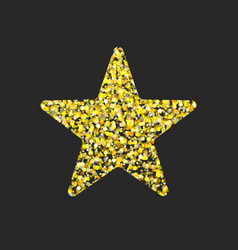 Gold glitter star vector