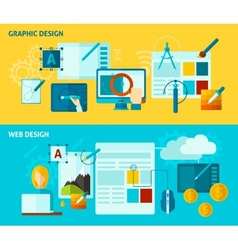 Graphic Design Banner vector image