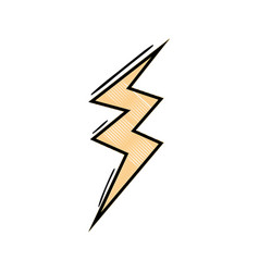 Grated thunder symbol icon warning alert vector