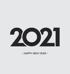 Happy new year 2021 cut paper background brochure vector