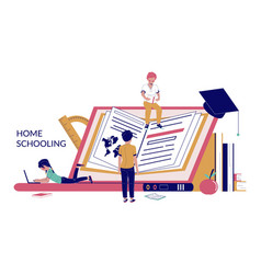 home schooling concept for web banner vector image
