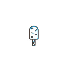 ice cream icon design gastronomy icon vector image