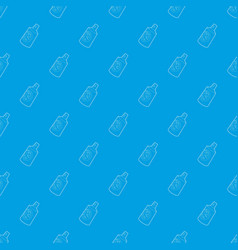 Insecticide spray pattern seamless blue vector