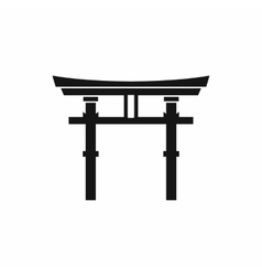 Japanese torii icon simple style vector