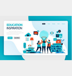 landing page for education ideas and inspiration vector image