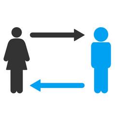 man exchange woman icon vector image
