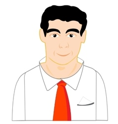Man in red tie vector