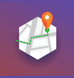 map marker pointing navigational location map pin vector image