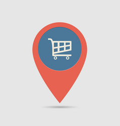 map pin supermarket vector image