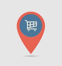 Map pin supermarket vector