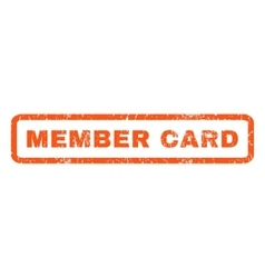 Member Card Rubber Stamp vector