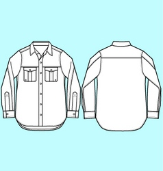Men formal shirt design vector