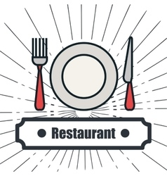 menu restaurant delicious food line isolated vector image