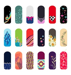 nail art ornament set vector image
